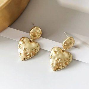 Heart Shape Star Design Earrings